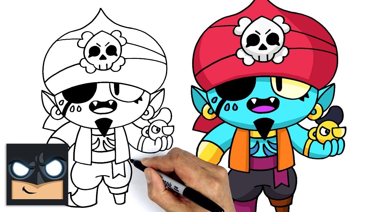 Come disegnare Brawl Stars | Gene pirata