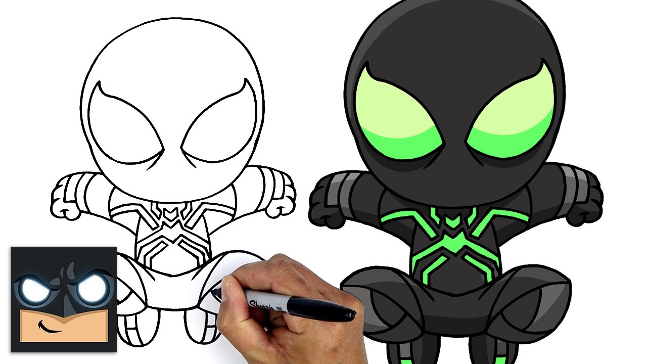 Come disegnare Spider-Man PS4   Big Time Stealth Suit