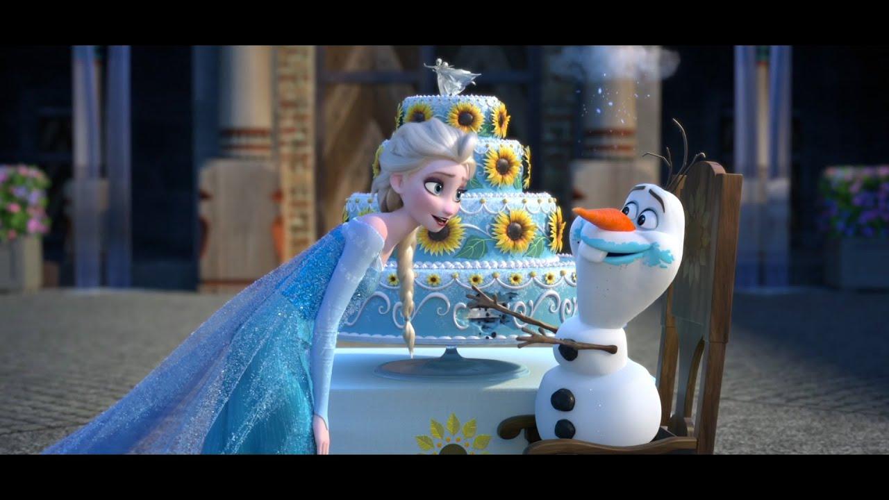 Frozen Fever   Clip dal Film   Olaf mangia la torta di compleanno di Anna