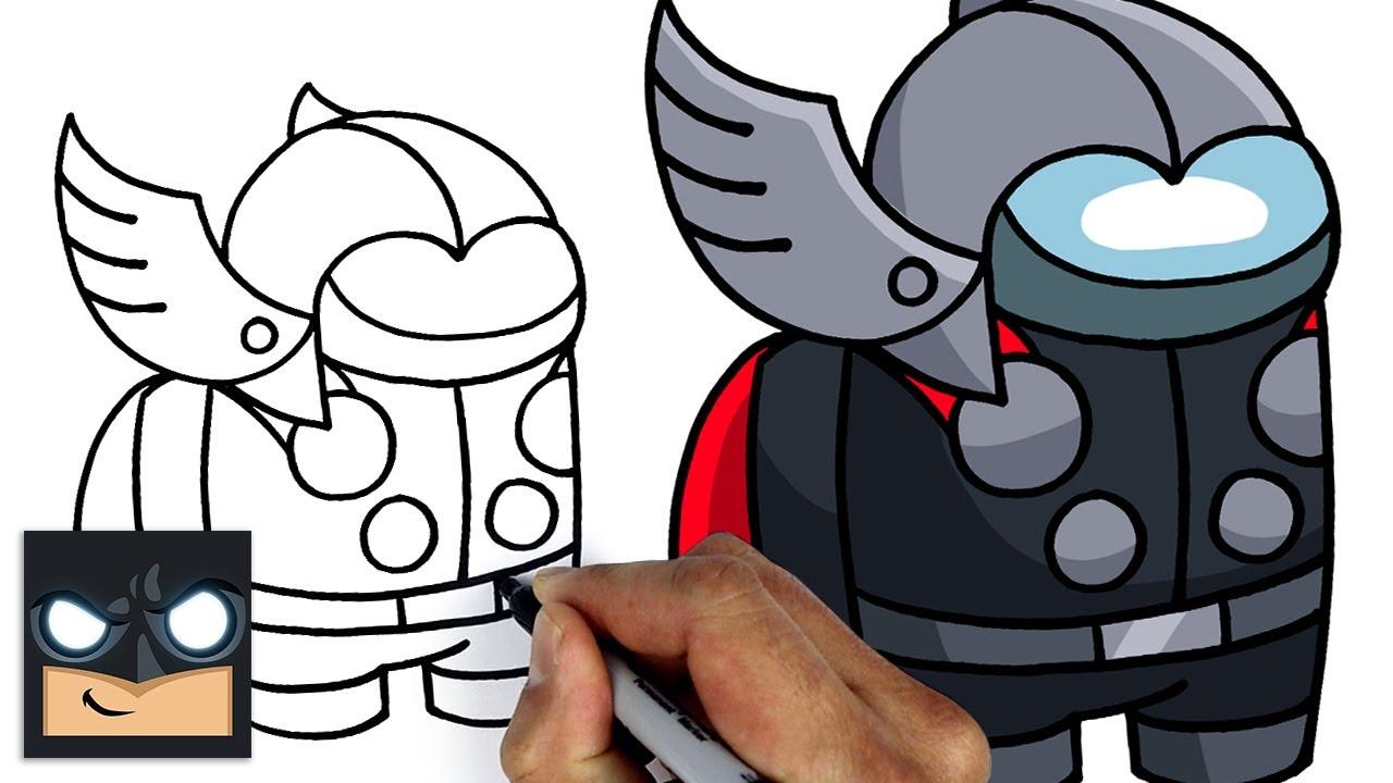 Come disegnare Among us | Thor compagno di squadra