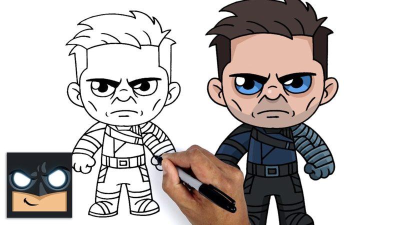 Come disegnare Winter Soldier | Falcon e il Soldato d'Inverno