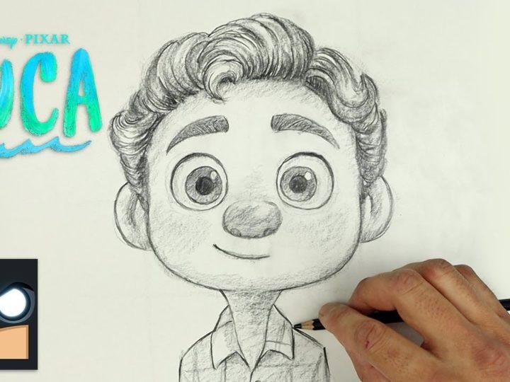 Come disegnare Luca del film di animazione Disney Pixar