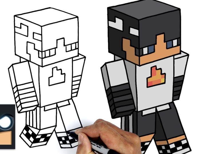 Come disegnare SapNap | Dream SMP || Tutorial  Minecraft Skin