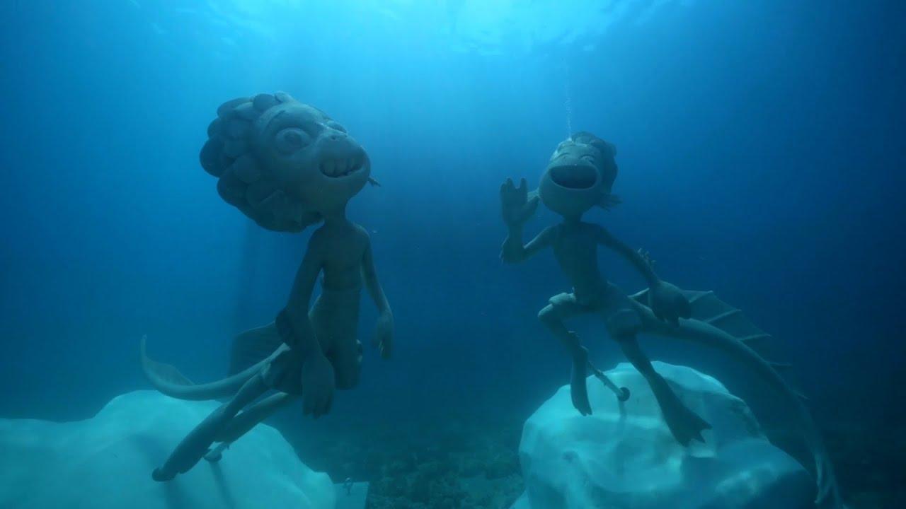 Disney+   Luca – Statue subacquee di Luca e Alberto