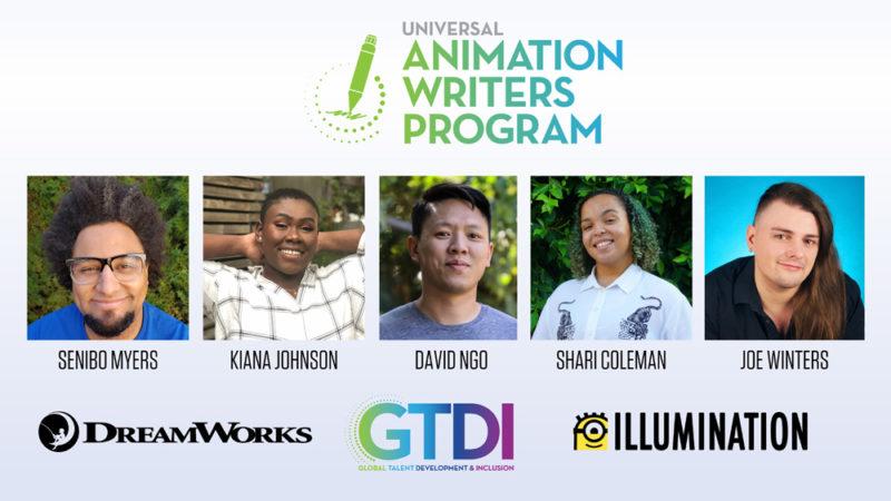 Universal lancia un programma per sceneggiatori di animazione con 5 talenti promettenti