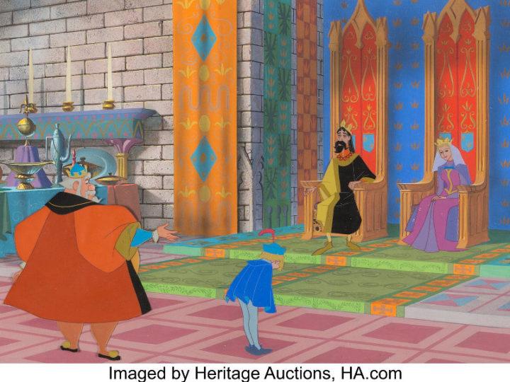 """All'asta le opere originali dei classici dell'animazione come """"La bella addormentata"""""""