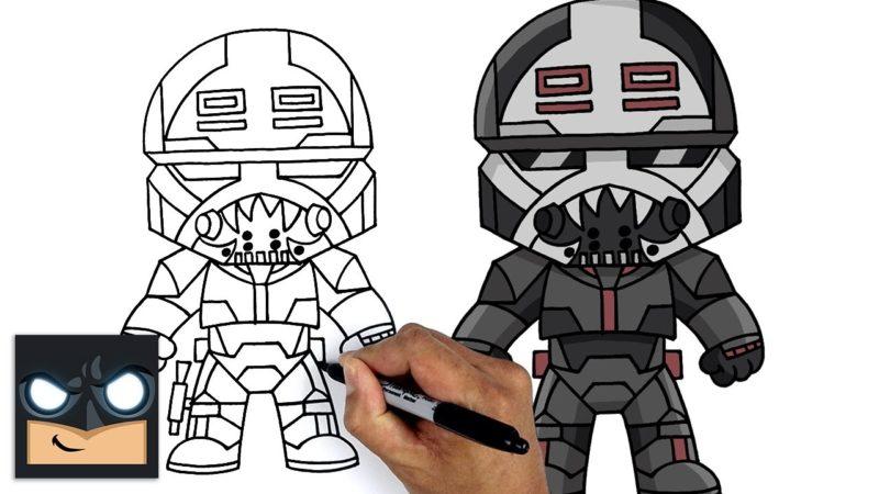 Come disegnare il demolitore di The Bad Batch di Star Wars