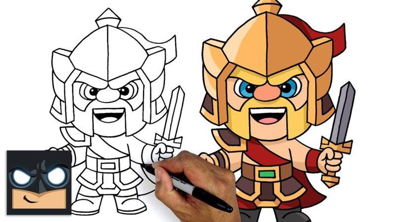 Come disegnare Clash of Clans | Re Guerriero