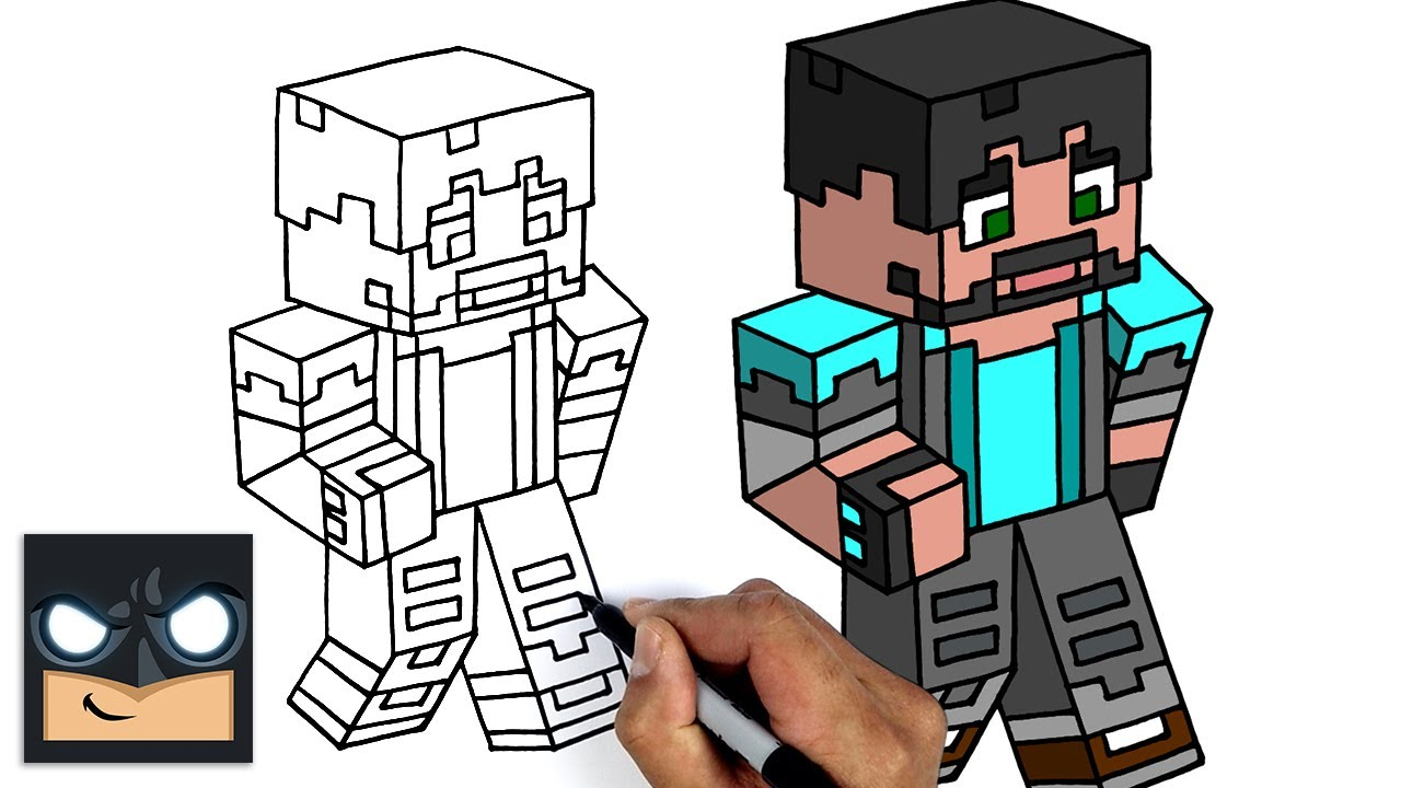 Come disegnare THINKNOODLES | MINECRAFT Tutorial passo  passo