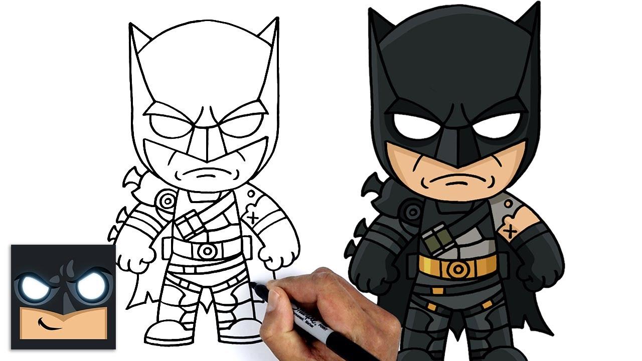 Come disegnare FORTNITE | BATMAN ZERO SKIN Tutorial passo dopo passo