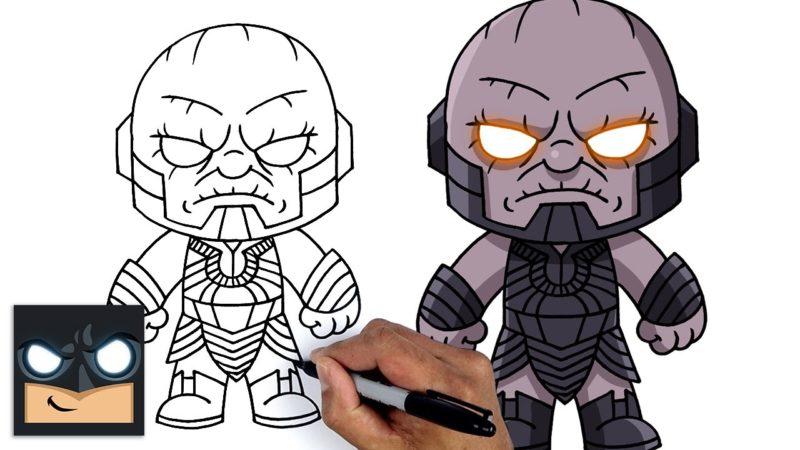 Come disegnare Darkseid della Justice League passo passo