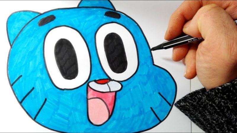 Come disegnare e colorare Gumball