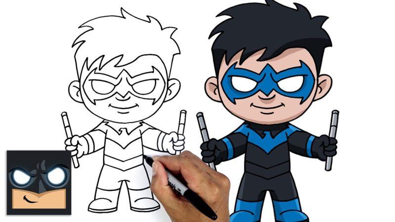 Come disegnare NIGHTWING   DC COMICS