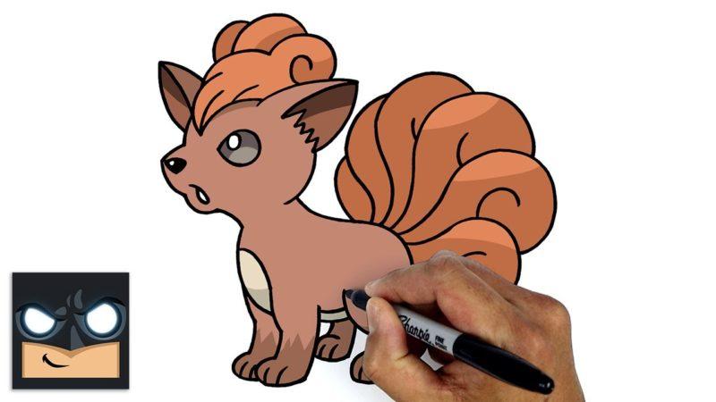 Come disegnare Vulpix dei Pokemon passo passo