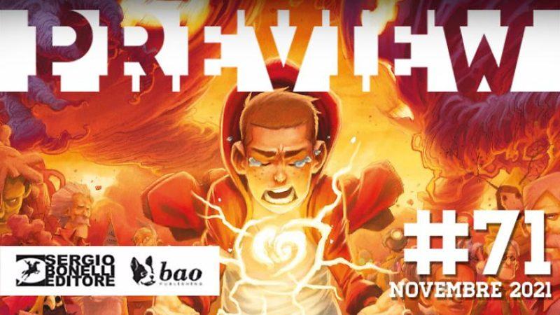 Le novità dei fumetti Sergio Bonelli e BAO Publishing sul catalogo Preview