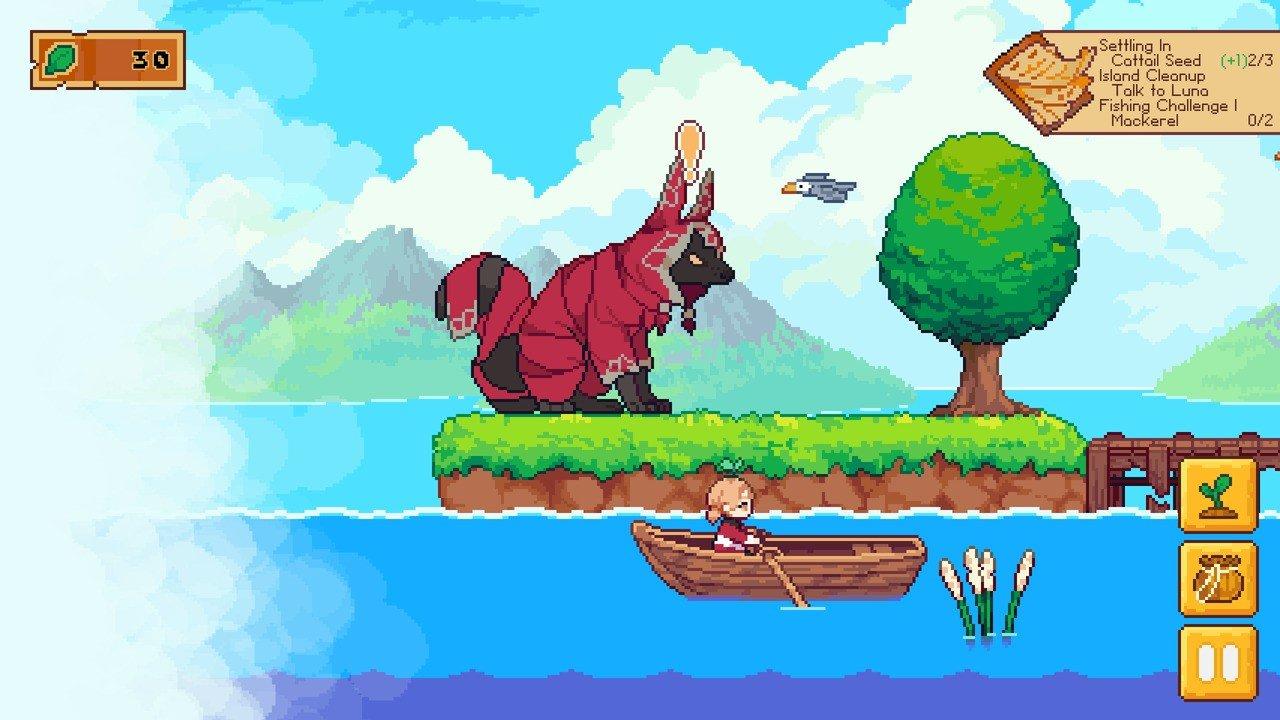 Il videogioco Luna's Fishing Garden dedicato alla pesca e al giardinaggio
