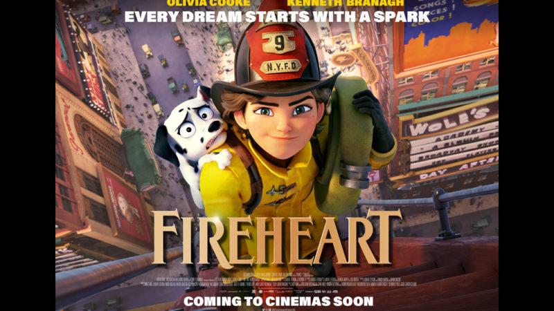 """Il film di animazione """"Fireheart"""" una bambina vuole diventare pompiere"""