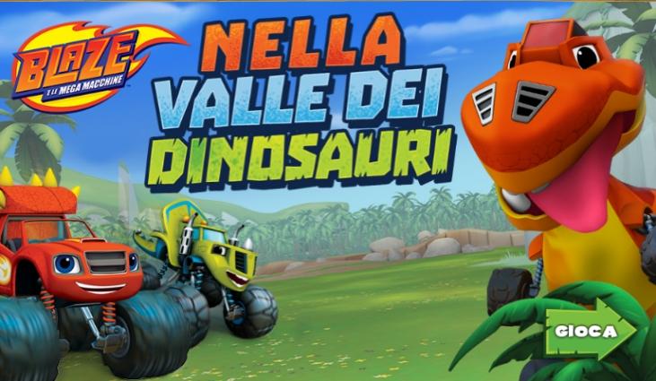 Gioco online gratis Blaze e le Megamacchine – Nella valle dei dinosauri