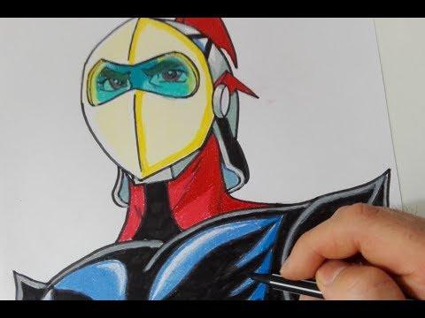 Come disegnare Actarus di Goldrake