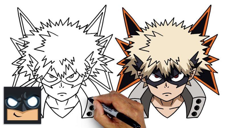 Come disegnare Katsuki Bakugo di My Hero Academia