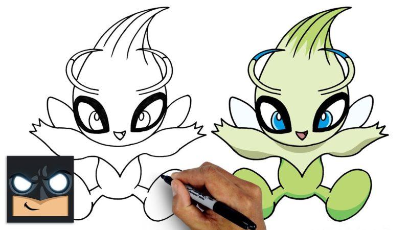 Come disegnare Celebi dei Pokemon