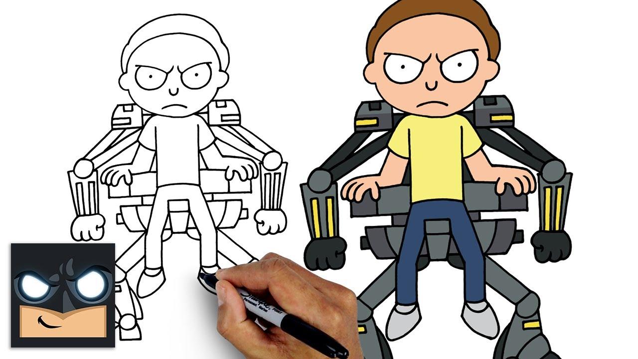 Come disegnare Morty di Rick e Morty e Fortnite Stagione 7