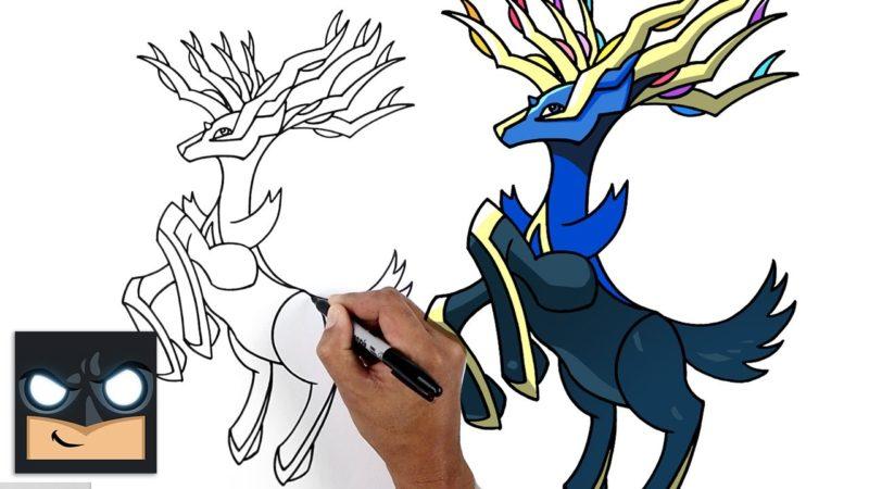 Come disegnare Xerneas dei Pokemon
