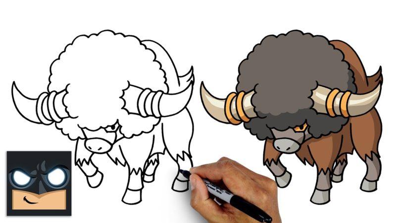 Come disegnare bouffalant dei Pokemon