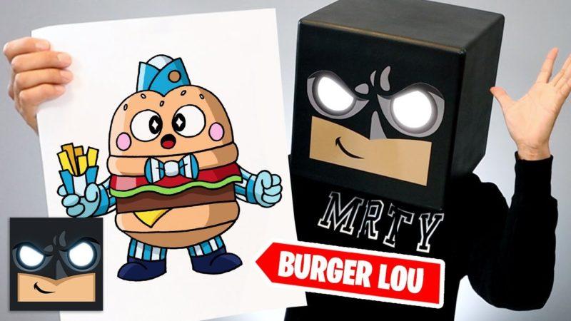 Come disegnare Burger Lou di Brawl Stars