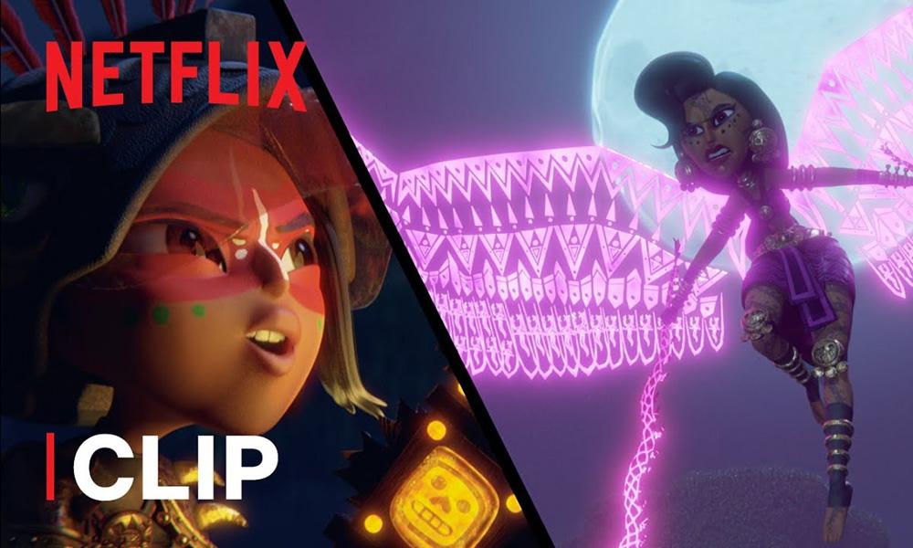 """Nuova clip di """"Maya e i tre guerrieri"""" su Netflix il 22 ottobre"""