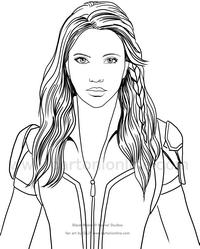 Disegni da colorare di Black Widow (il film)