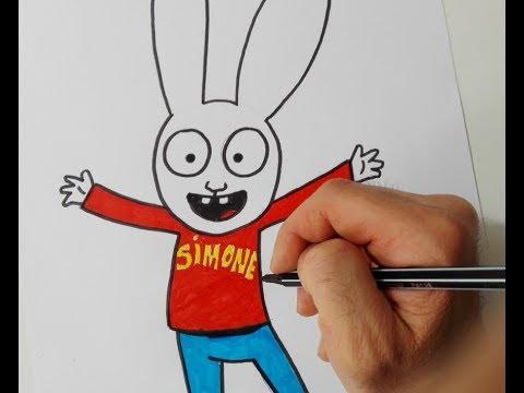 Come disegnare Simone il coniglio