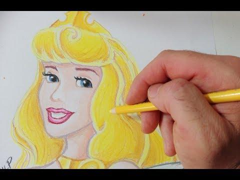Come disegnare Principessa Aurora delle principesse disney