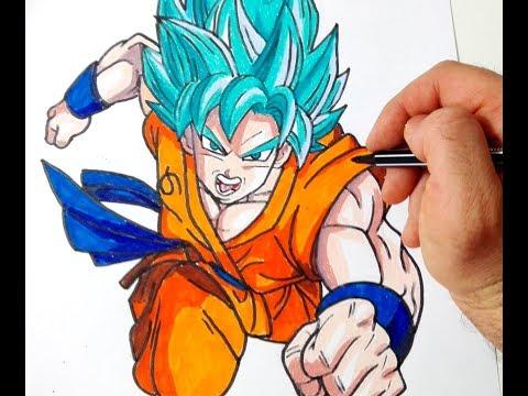 Come disegnare Goku Dragon Ball Super