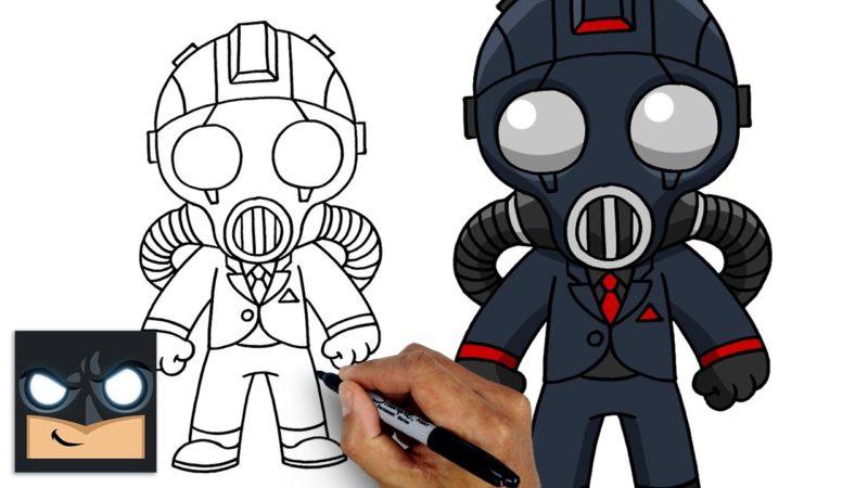 Come disegnare l'agente del caos di Fortnite