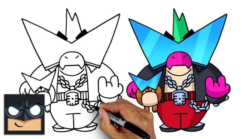 Come disegnare Born Bad Buzz di Brawl Stars