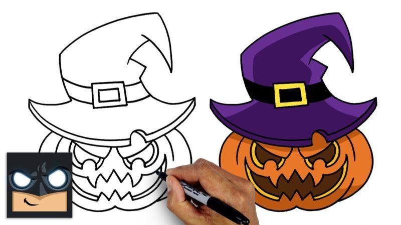Come disegnare una zucca di Halloween | Tutorial passo  passo