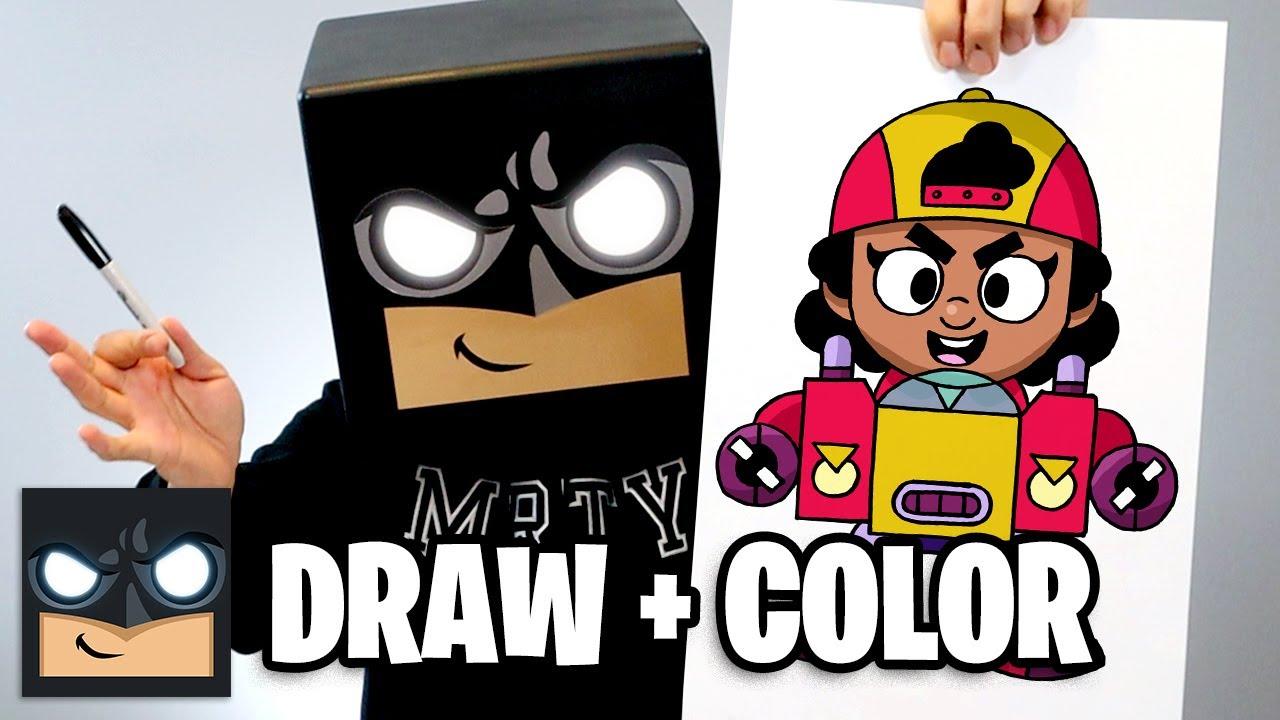 Come disegnare Meg   Brawl Stars (disegna + colora)