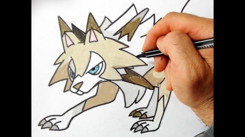 Come disegnare Lycanroc dei Pokemon