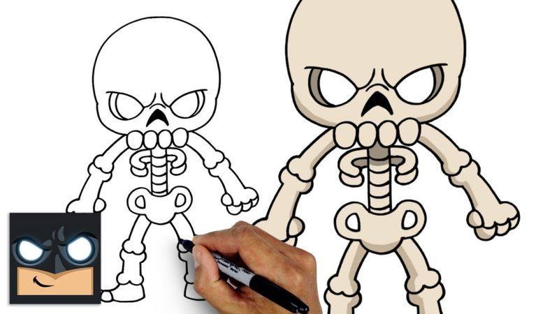 Come disegnare uno scheletro di Halloween 🎃 Tutorial di Halloween