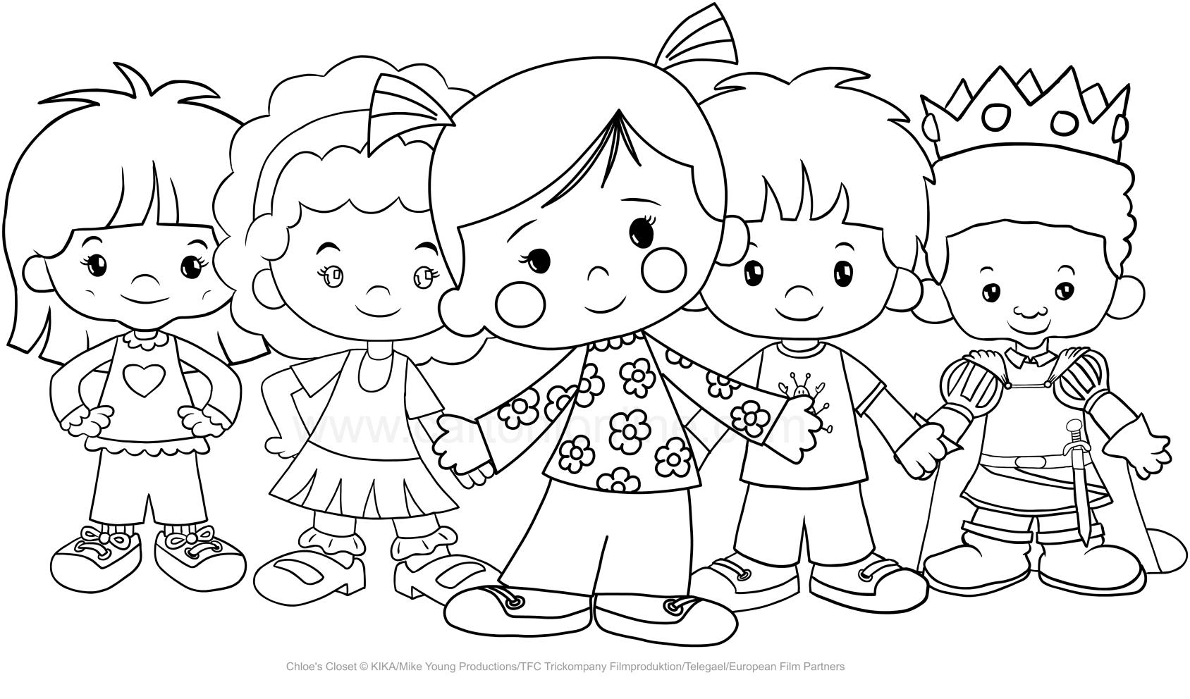 Ausmalbilder Zoé und seine Freunde (Zoés Zauberschrank)