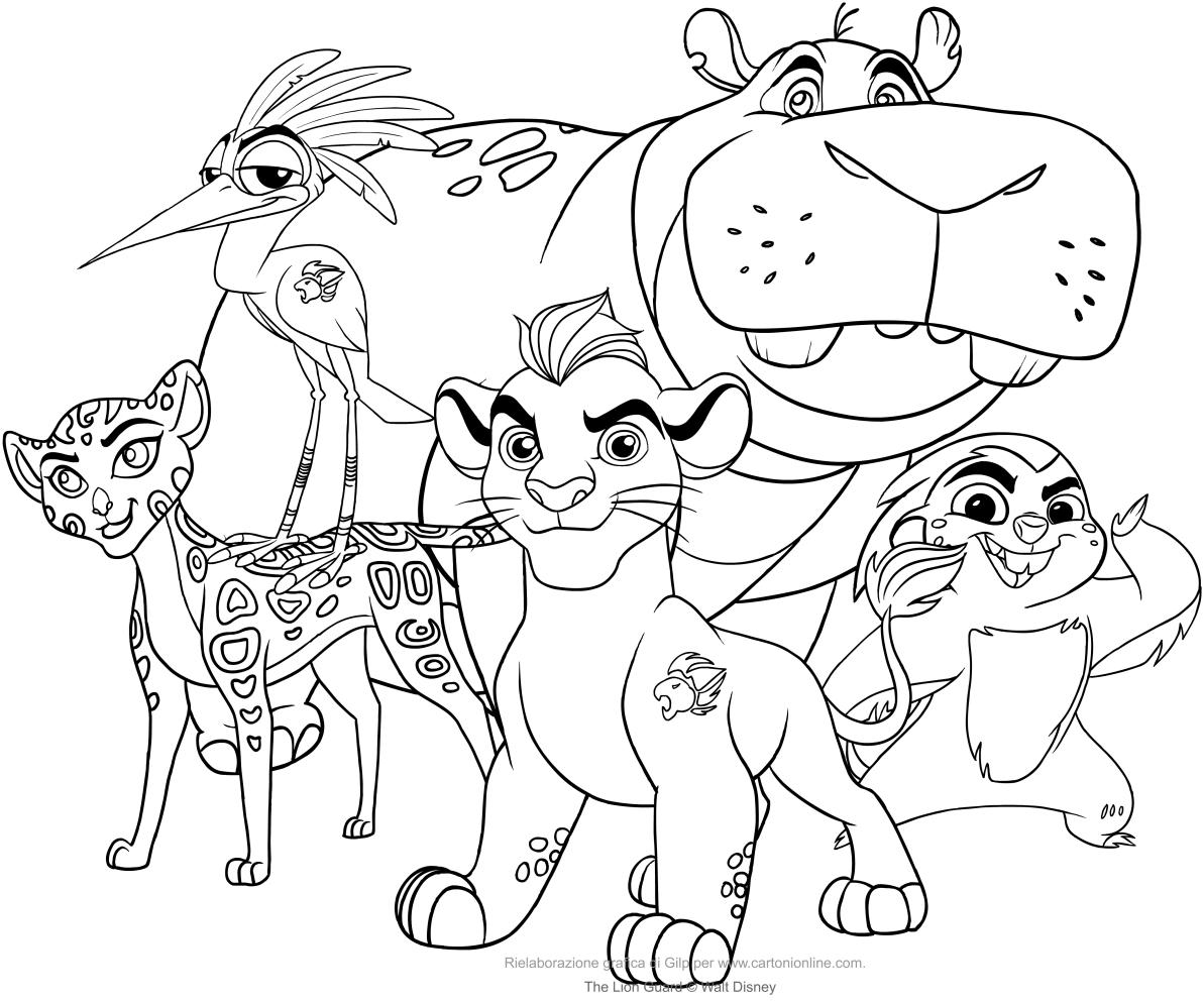Ausmalbilder s Die Garde der Löwen