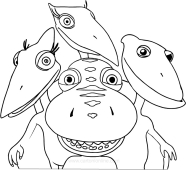 Ausmalbilder Dino Zug