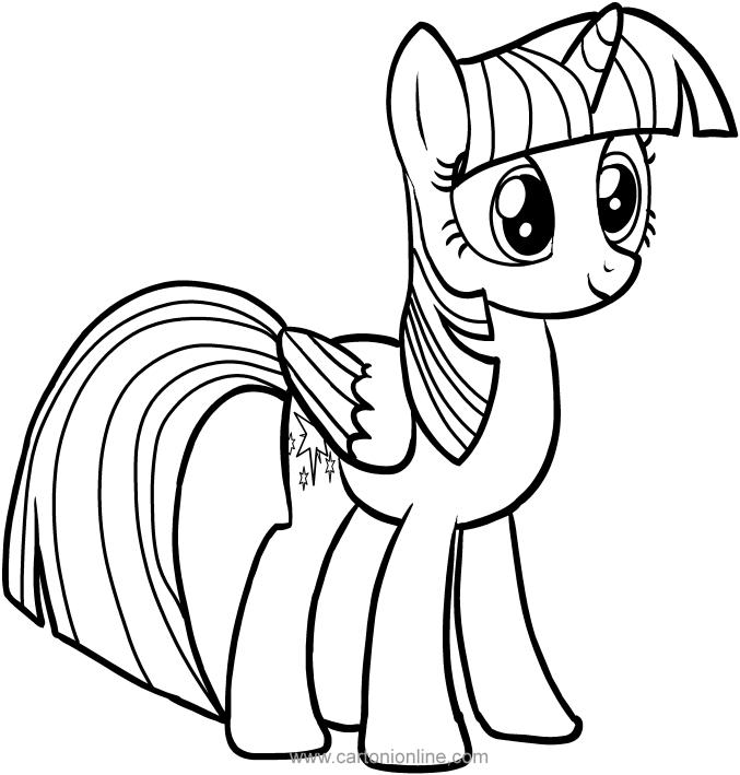 Ausmalbilder Twilight Sparkle Des My Little Pony
