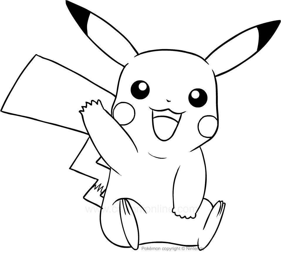 Ausmalbilder Pikachu des Pokemon
