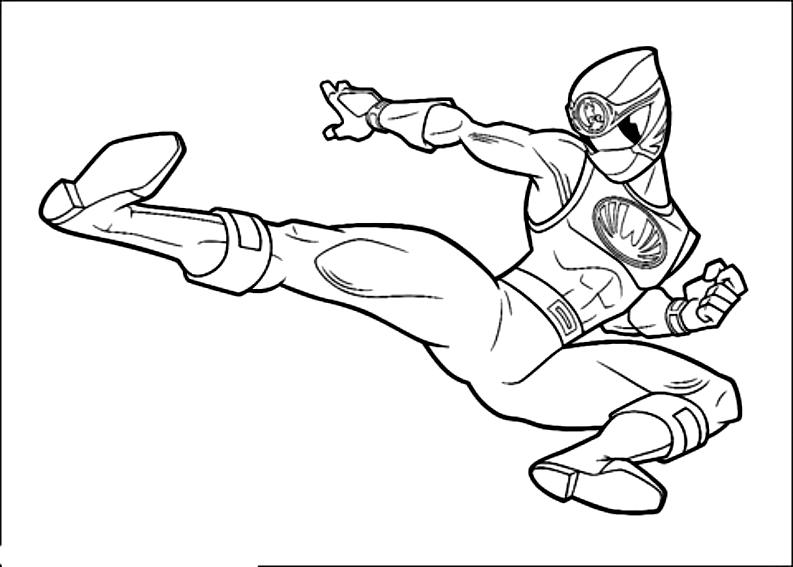 Ausmalbilder Ninja Power Dei Power Rangers