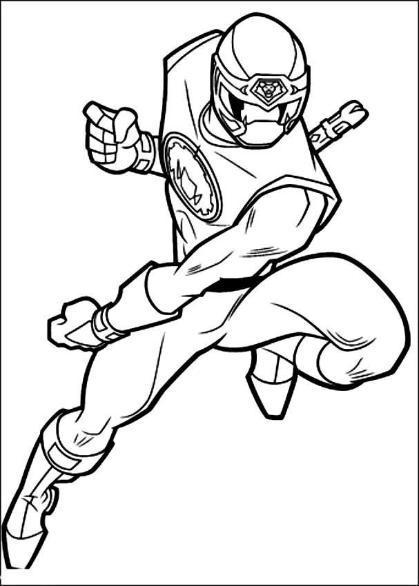Ausmalbilder Power Ranger Nero Dei Power Rangers