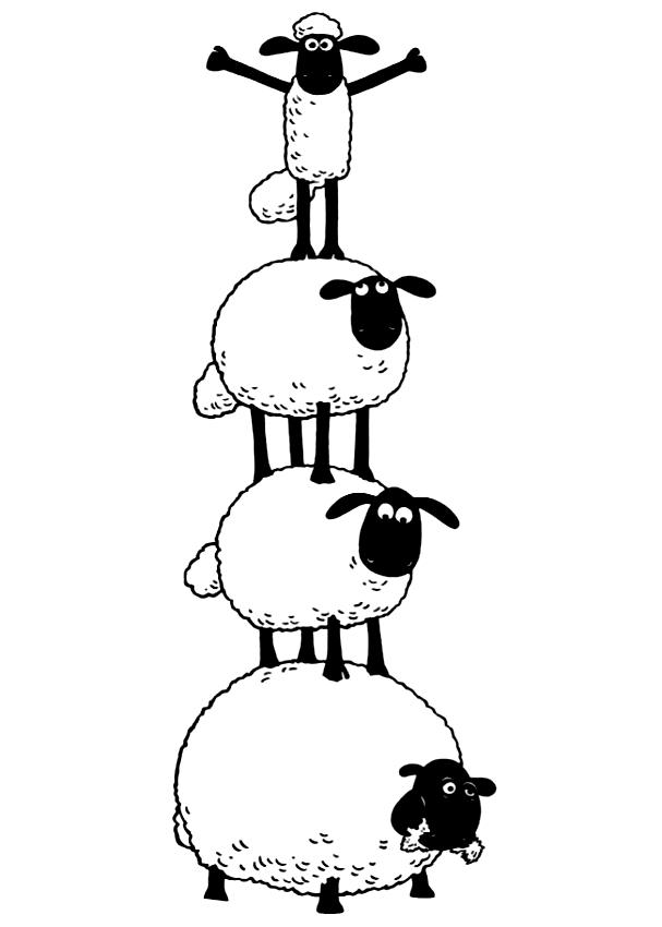 Ausmalbilder Shaun Und Die Schaf
